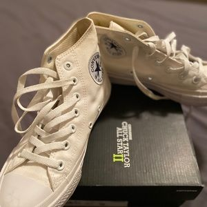 Converse high top off white